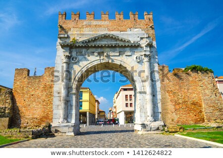Arch of Augustus, in Rimini, Italy Stock photo © pixelmemoirs