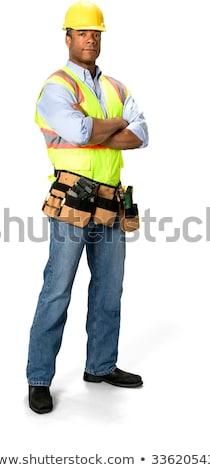 bouwvakker · visitekaartje · business · introductie · man - stockfoto © broker