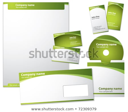 Blank Letter, Envelope, Business cards and CD stock photo © fixer00
