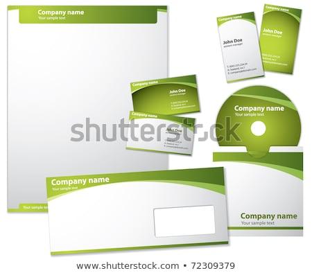 Carta envelope cd modelo papel Foto stock © fixer00