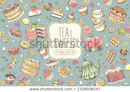 Bule comida chá doce oriental Foto stock © M-studio