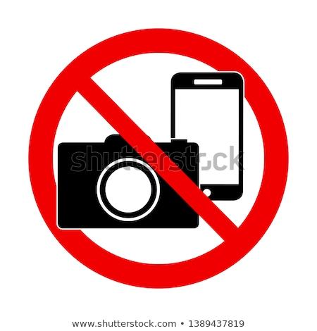 Não fotografia proibido câmera Foto stock © experimental