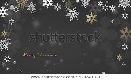 fiocco · di · neve · confine · Natale · bianco · gingillo · decorazioni - foto d'archivio © sandralise