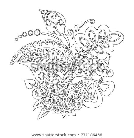 рисунок Dragonfly белый бумаги облака Сток-фото © pzaxe