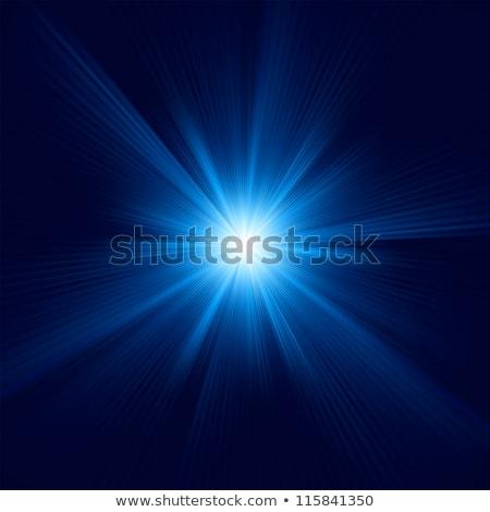 Star burst blue and white flare. EPS 8 Stock photo © beholdereye