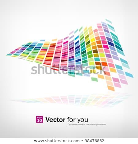 Color Pixel Wave Stok fotoğraf © Sarunyu_foto