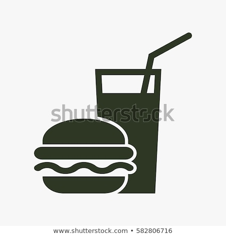 Stock photo: Food and drink icons vector