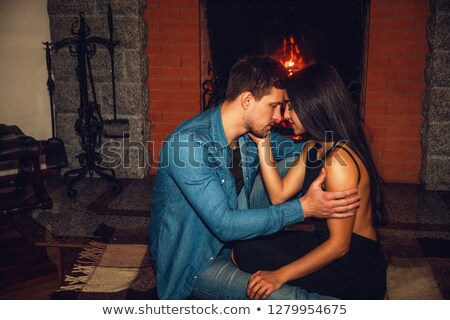 Couple touching foreheads at home Stock photo © photography33