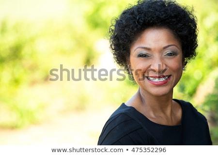 ritratto · donna · guardando · fotocamera · bianco - foto d'archivio © wavebreak_media