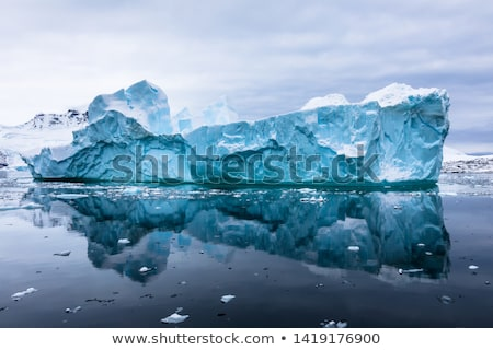 yansıma · deniz · okyanus · kar · soğuk - stok fotoğraf © timwege