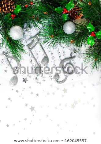 Christmastime treble clef Stock photo © Anna_Om