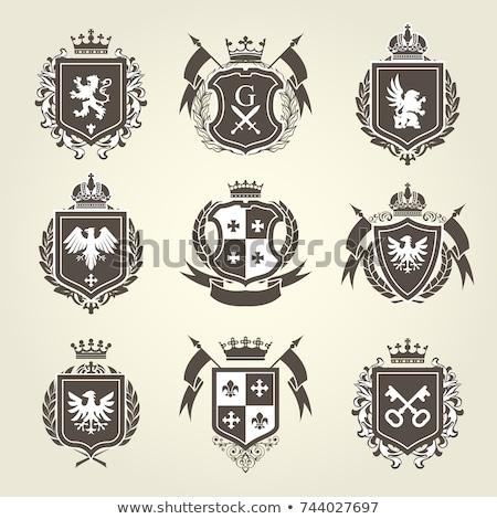heraldic crest vector set stock photo © creative_stock