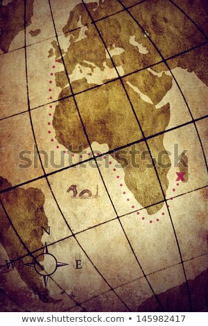 World map with compass showing Africa and Asia Stock photo © wavebreak_media