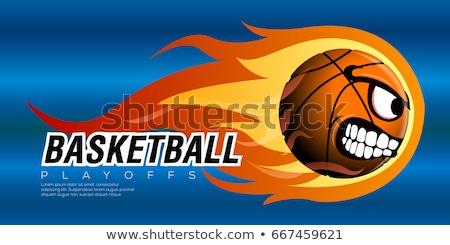баскетбол · пылающий · мяча · вектора · изображение · сжигание - Сток-фото © chromaco