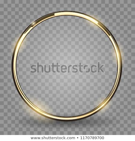 Dourado anel vetor arte ilustração mais Foto stock © robertosch