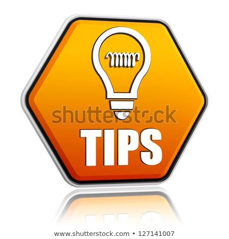 Tips and tricks in hexagon button stock photo © marinini