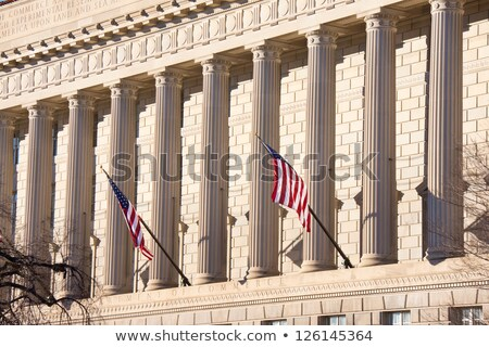 Flags Fly in Front of Government Building stock photo © HdcPhoto