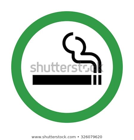 Ikon duman sigara içme vektör yalıtılmış örnek Stok fotoğraf © Myvector