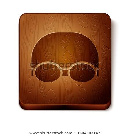 Duiken pictogram bruin water sport fitness Stockfoto © seiksoon