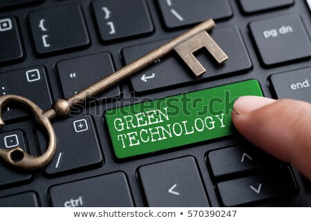 Verde tecnologia chave ilustração preto Foto stock © 3mc