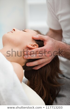 Close-up of neck of woman beig manipulating by a therapist in a room Stock photo © wavebreak_media