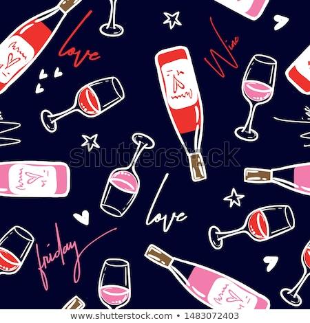 görmek · şarap · şarap · şişesi · cam - stok fotoğraf © yupiramos
