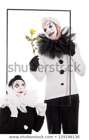 Dwa ramki żółty kwiat kwiat strony szczęśliwy Zdjęcia stock © Pasiphae