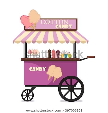 Vector icon tent and candyshop stock photo © zzve