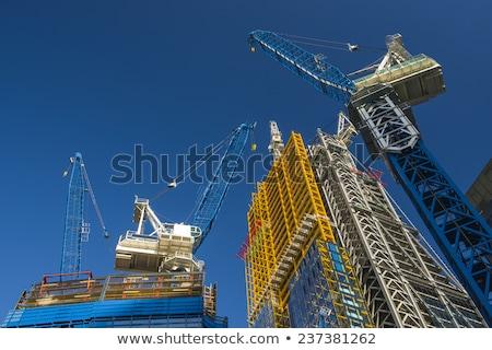 高い · 建設 · 住宅の · 建物 · グレー · 市 - ストックフォト © eldadcarin