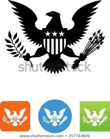 Groot zegel Verenigde Staten metaal amerikaanse Stockfoto © pixelsnap