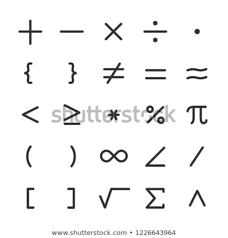 Square Root Icon Set Stock photo © cteconsulting