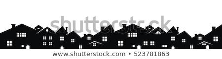 Evleri renkli 3D render sokak Stok fotoğraf © head-off