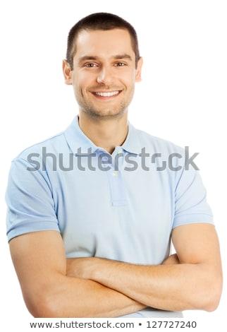 Retrato moço isolado branco corpo homens Foto stock © luckyraccoon