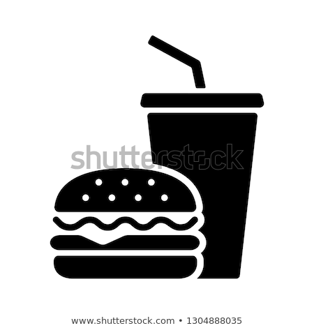 Stock photo: Food and beverages icons