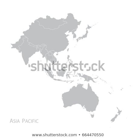 Asia kaart Laos land kaarten knop Stockfoto © Ustofre9