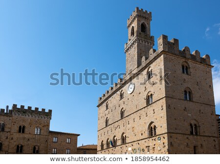 medieval palazzo dei priori in volterratuscany stock photo © anshar
