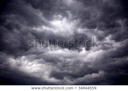 Nagy erőteljes viharfelhők föld égbolt naplemente Stock fotó © digoarpi