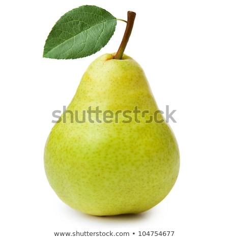 Ripe pears with leafs Stock photo © Masha