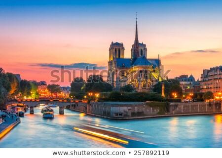 日没 パリ 遅い 春 ボート 合格 ストックフォト © chris2k