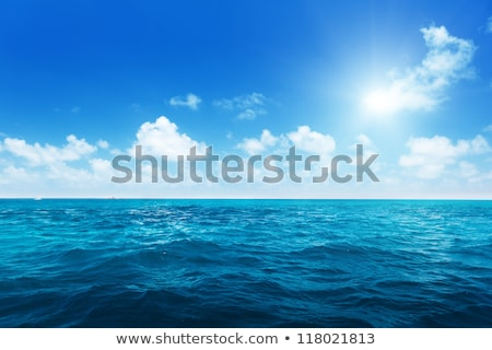 Perfect sky and water of ocean Stock photo © stockyimages