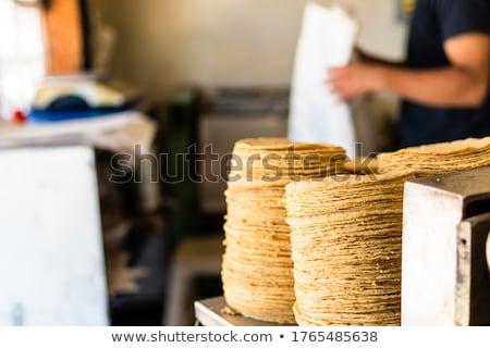 Tortilla fotoğraf klasik kahvaltı biber Stok fotoğraf © MamaMia