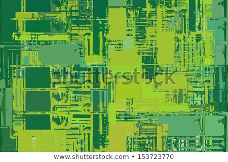 abstract stacked green composition with torn paper edges Stock photo © Melvin07