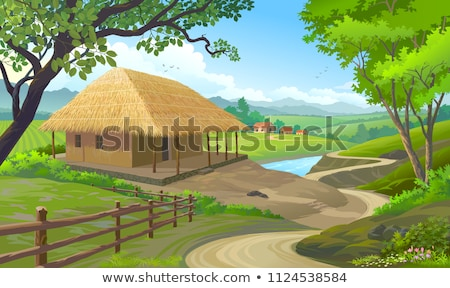 a path and a house made of grass stock photo © taichesco
