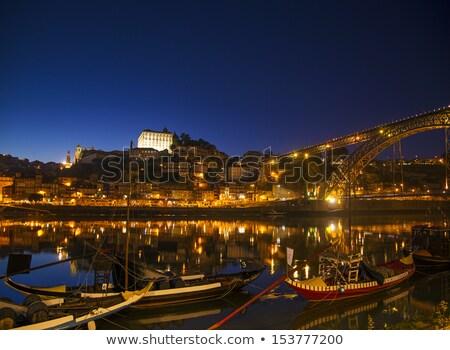 Portugal · rivier · nacht · nota · beweging - stockfoto © travelphotography