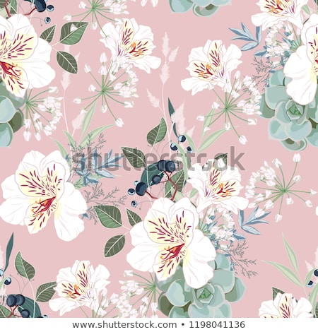 Gold vintage floral patterns on blue background Stock photo © Ray_of_Light