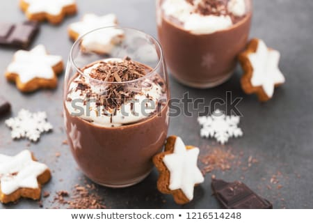 Chocolate mousse dessert cup Stock photo © MSPhotographic