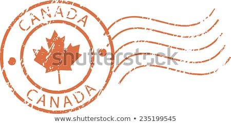 Posta bélyeg Kanada nyomtatott búza aratás Stock fotó © Taigi