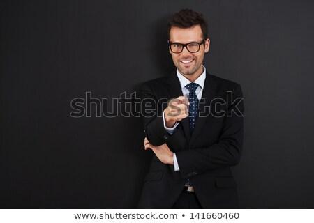 feliz · homem · bonito · isolado · branco - foto stock © feedough