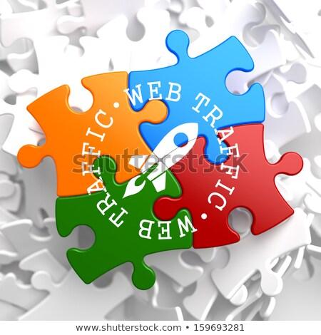 web traffic concept on multicolor puzzle stock photo © tashatuvango