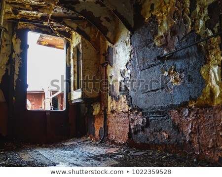 opuszczony · statku · plaży · morza · łodzi · burzy - zdjęcia stock © mady70
